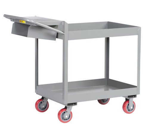 "Picking Cart w/3"" Deep Shelves"