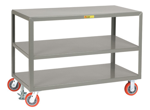 Mobile Table with 3 Shelves