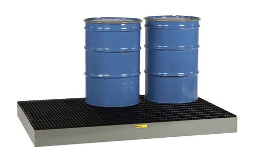 Low Profile 6 Drum Steel Spill Platform