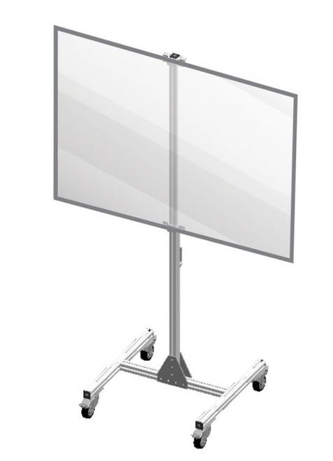 Shared Desk Divider Mobile Partition Shield Panel