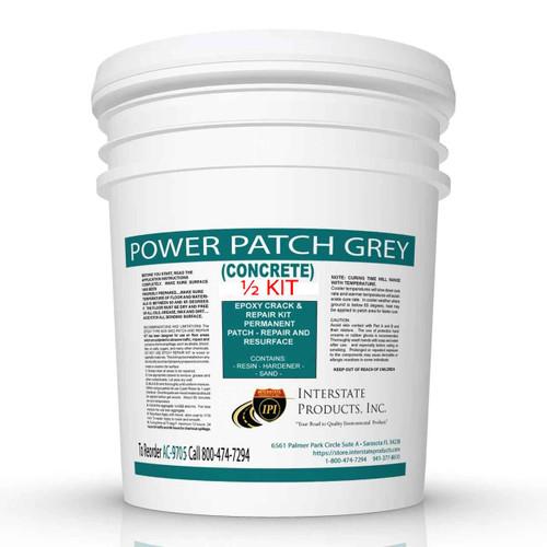 Power-Patch Concrete Epoxy Half Kit - Grey