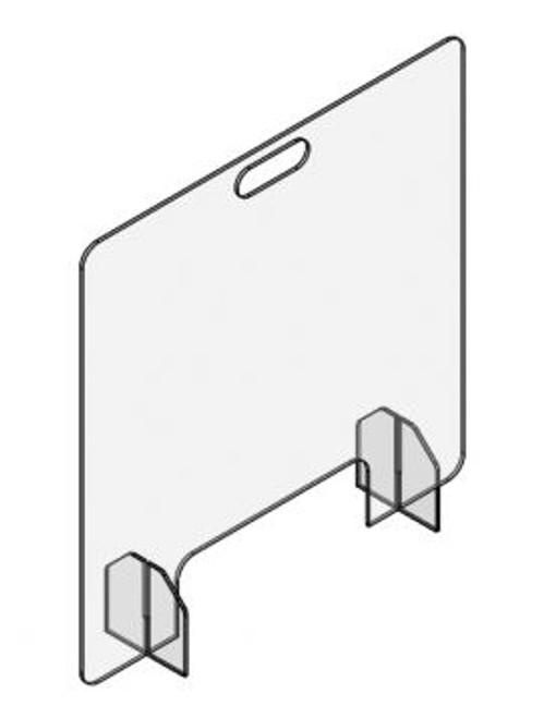 Desktop or Countertop Barrier with pass through