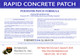 Rapid Concrete Patch - Label