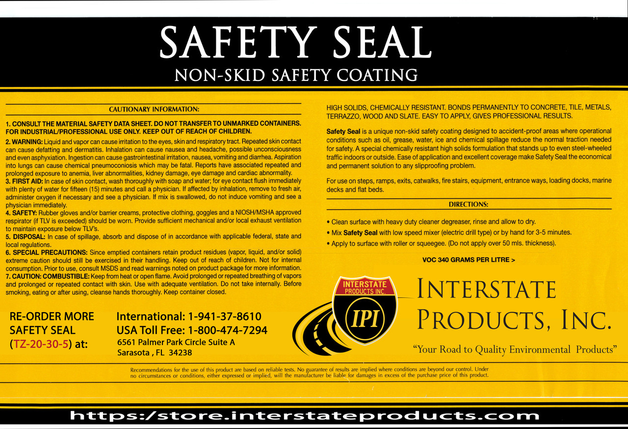 Anti-Slip Indoor Floor Coating - Pre-Mixed - Safety Seal