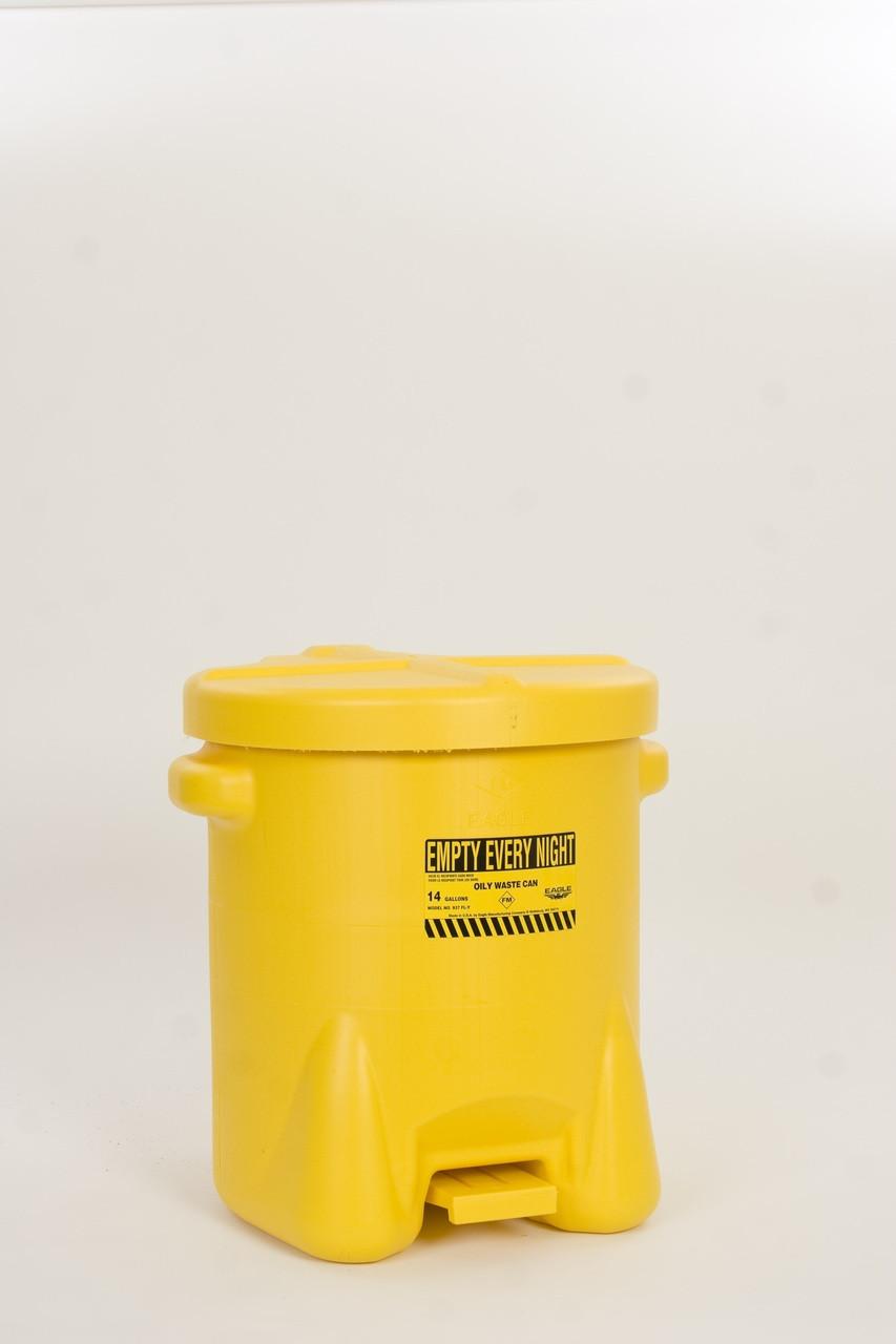 Eagle 937-FLY - Polyethylene Oily Waste Can