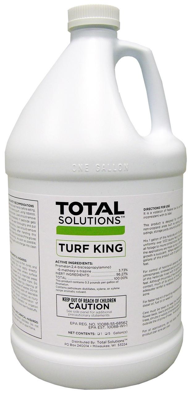 Turf King - Residual Weed Killer - Non-Selective Herbicide - 4 Gallons