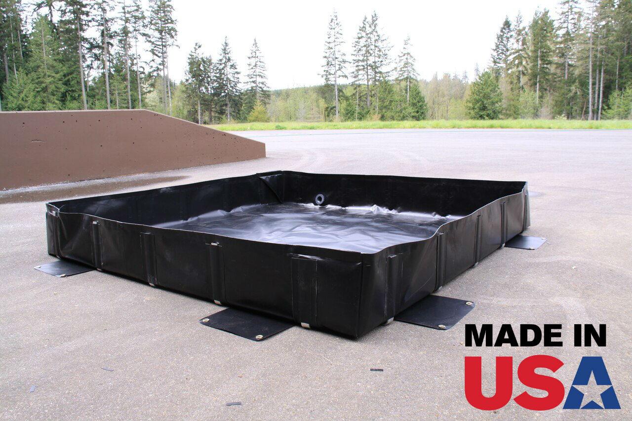 Spill Containment L-Bracket Berm - 8' x 14' x 12