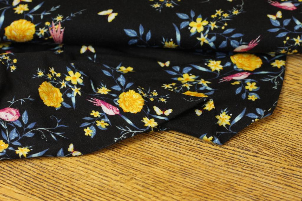 Black Floral Knit