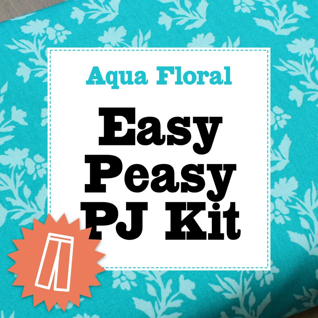 Aqua Floral Pj Kit