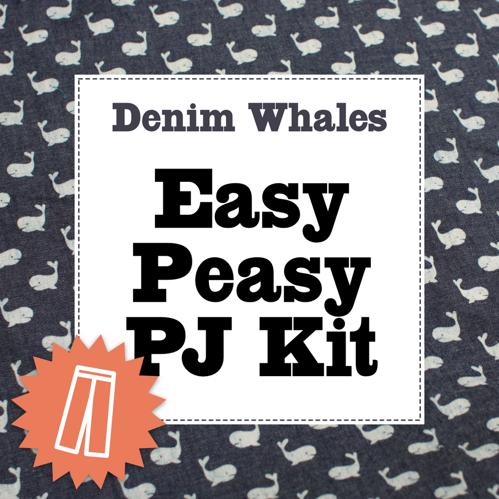 Denim Whales Pj Kit