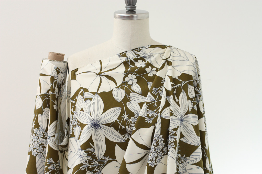 Olive Tropical Cotton