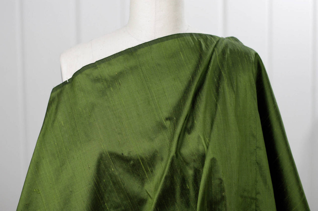 Juniper Green Silk Dupioni