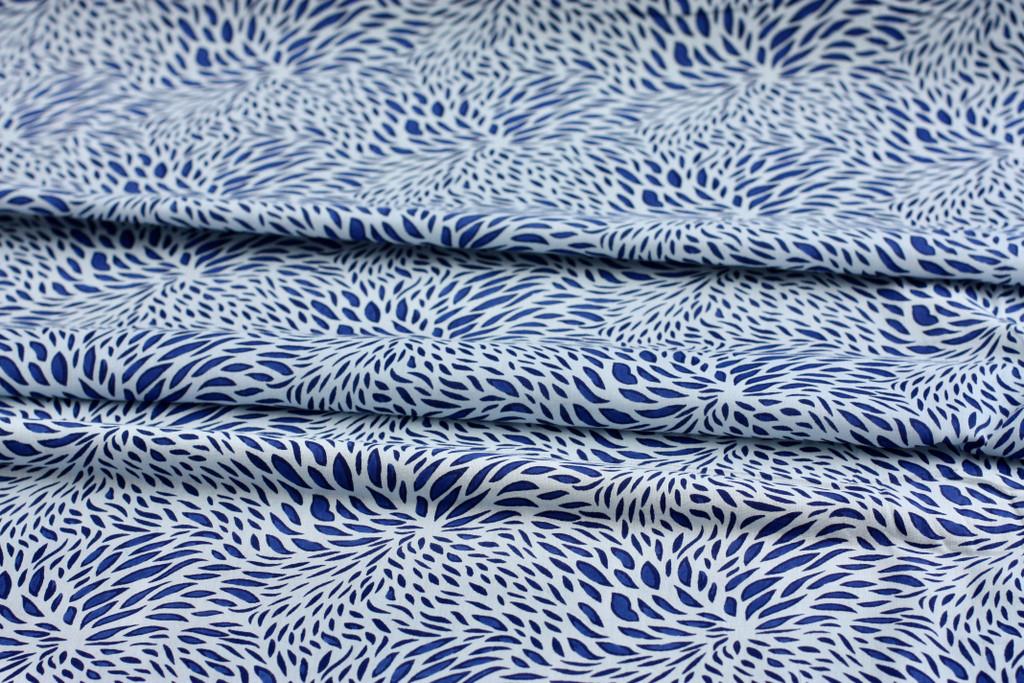 Blue Droplets Cotton
