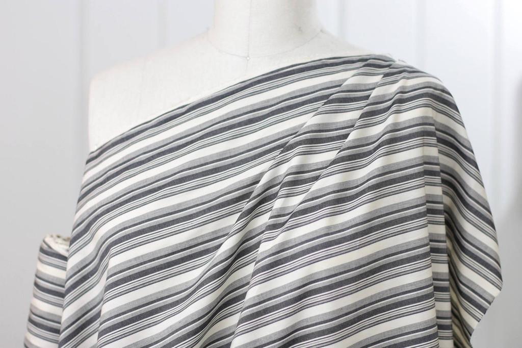 Black & Tan Cotton Shirting