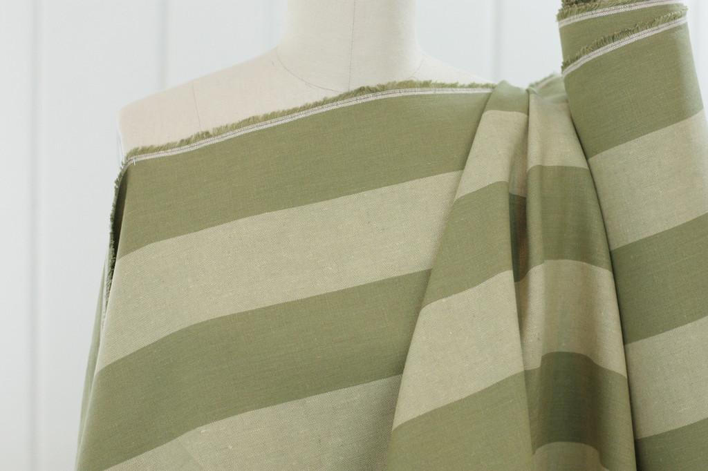 Sage Stripe Linen