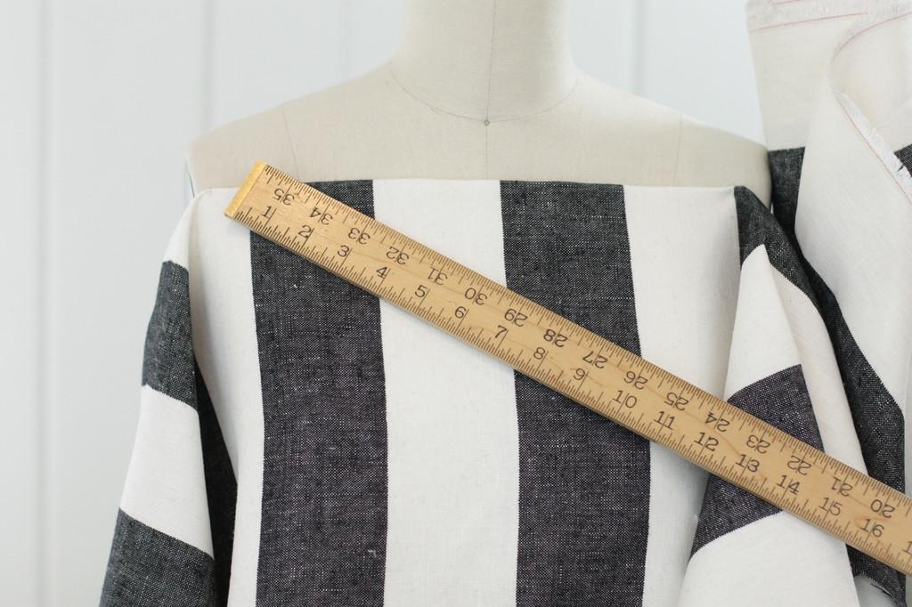 Black & White Stripe Linen