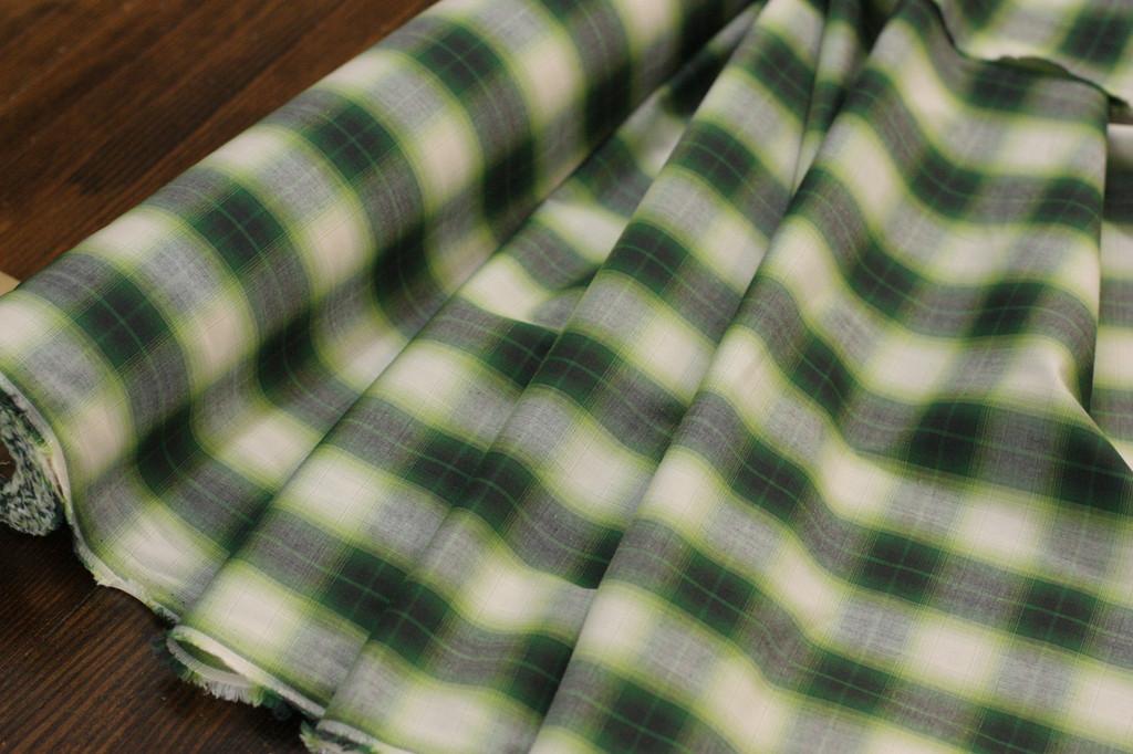 Green Plaid Shirting