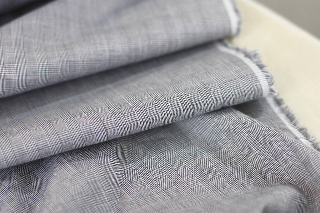 Fine Hatch Cotton Shirting