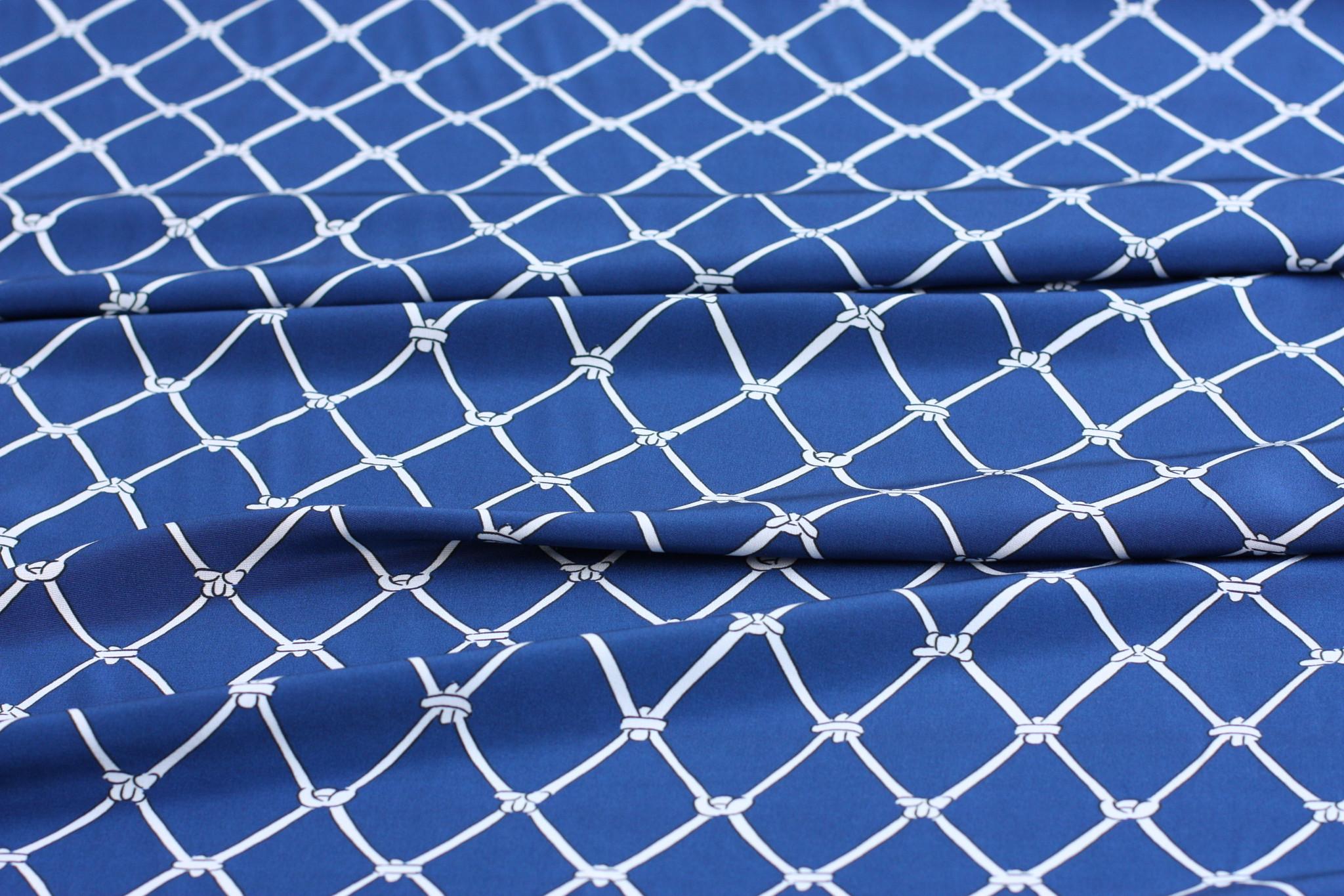 Navy Knots Silk