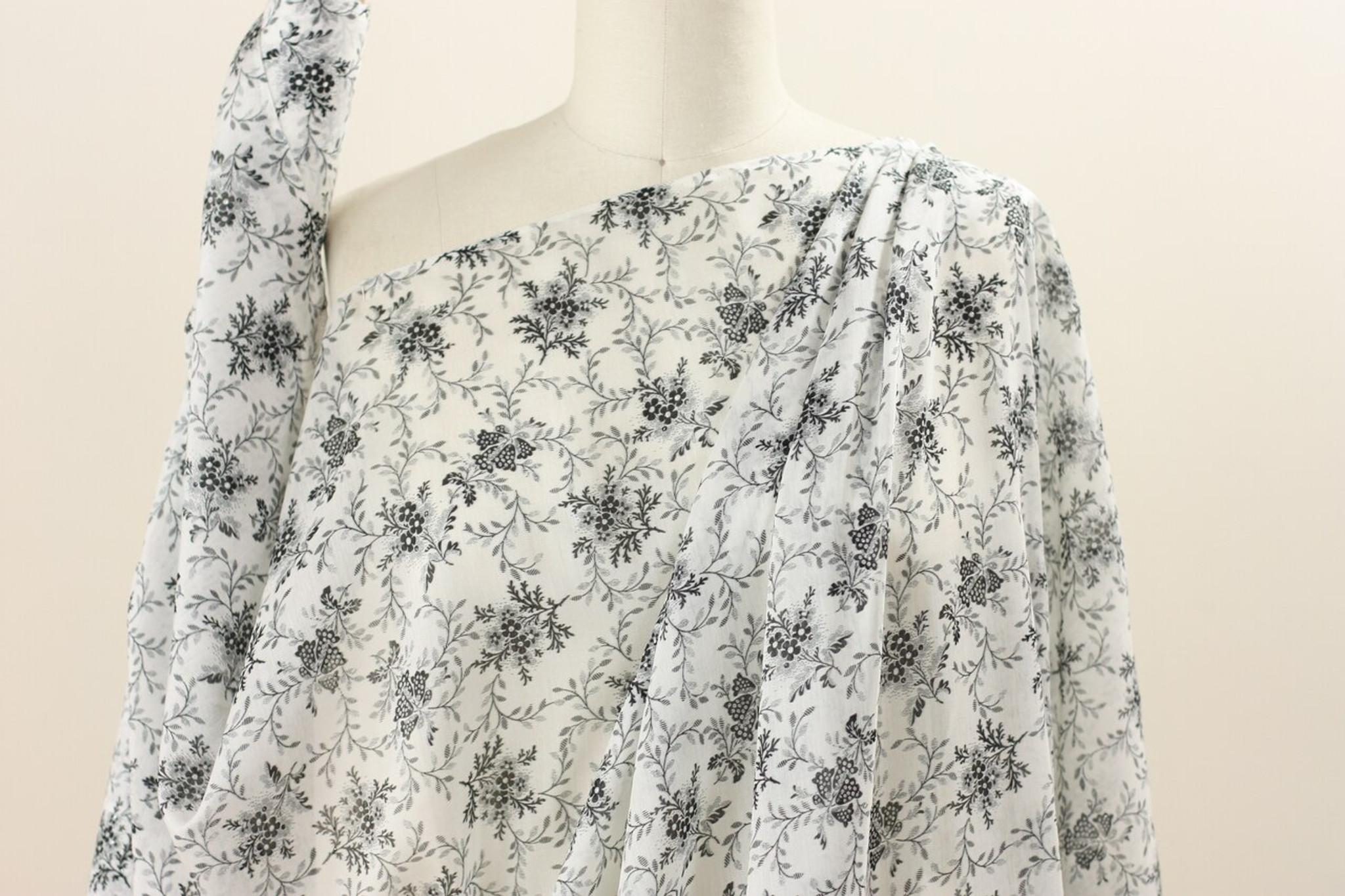 Floral Voile Silk Remnant