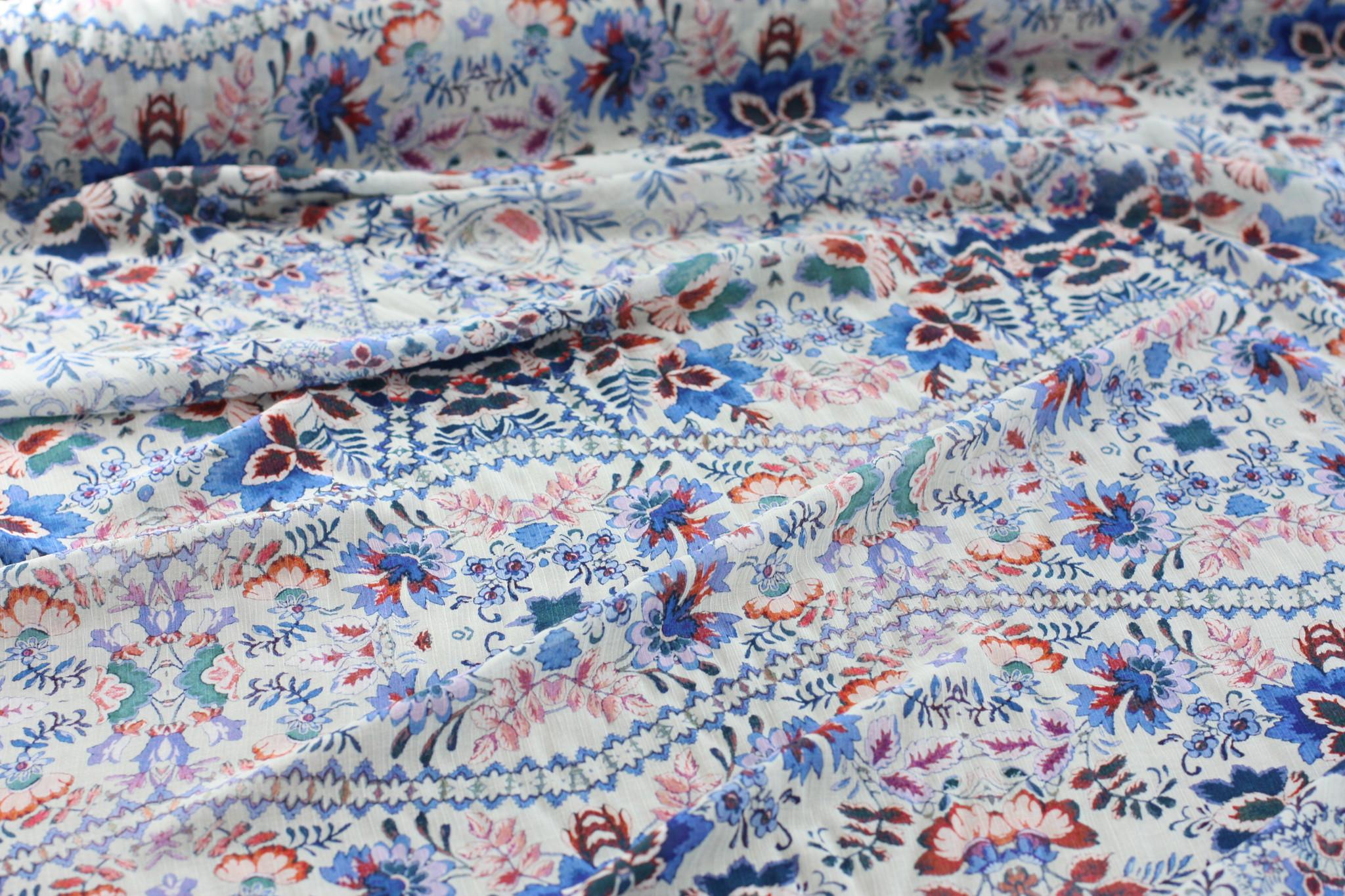Wildflower Crinkle Silk