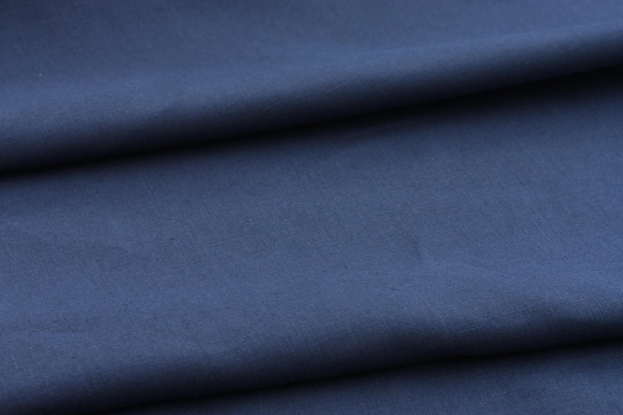 Dark Indigo Linen