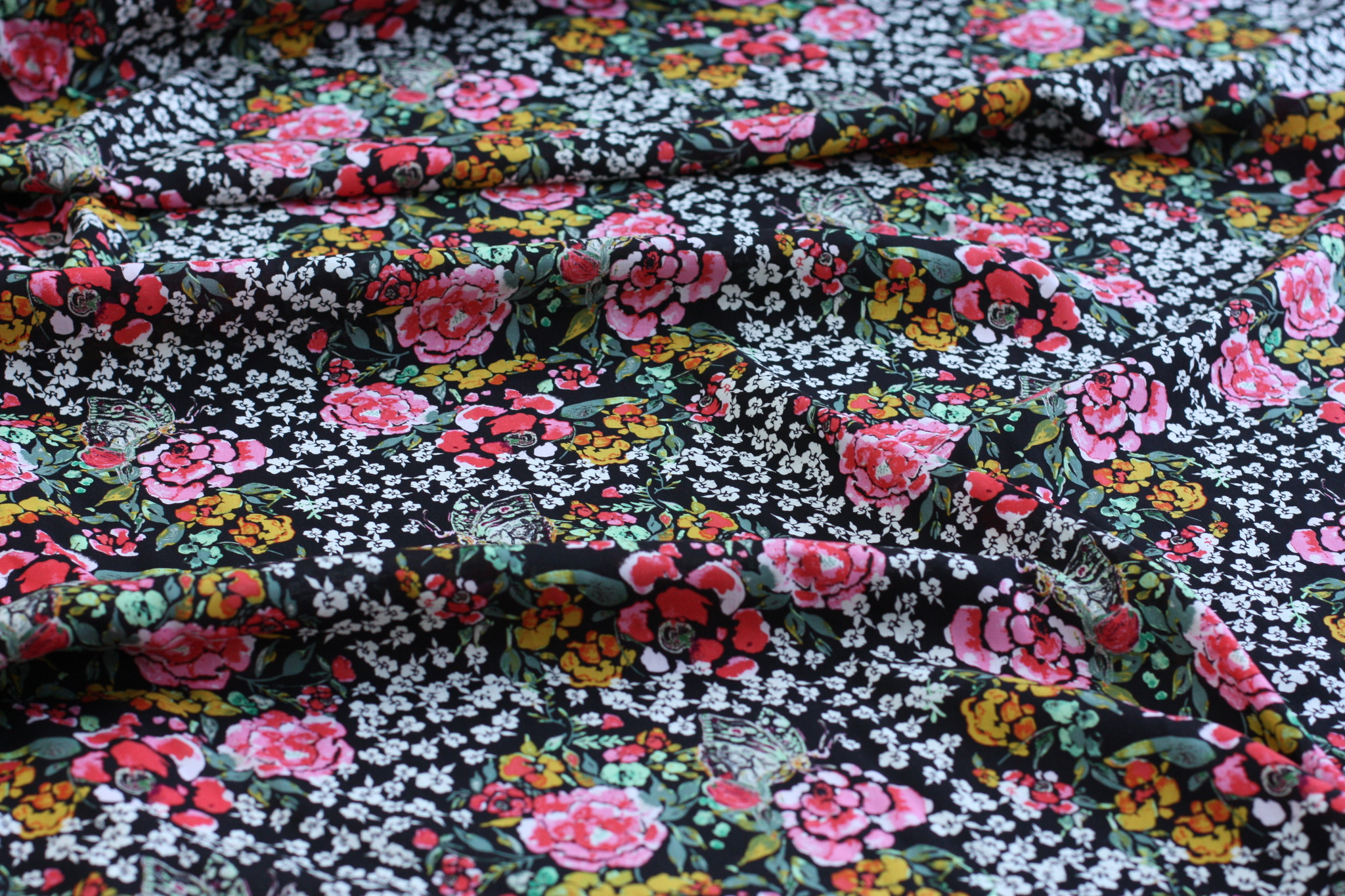 Rose & Ochre Floral Woven