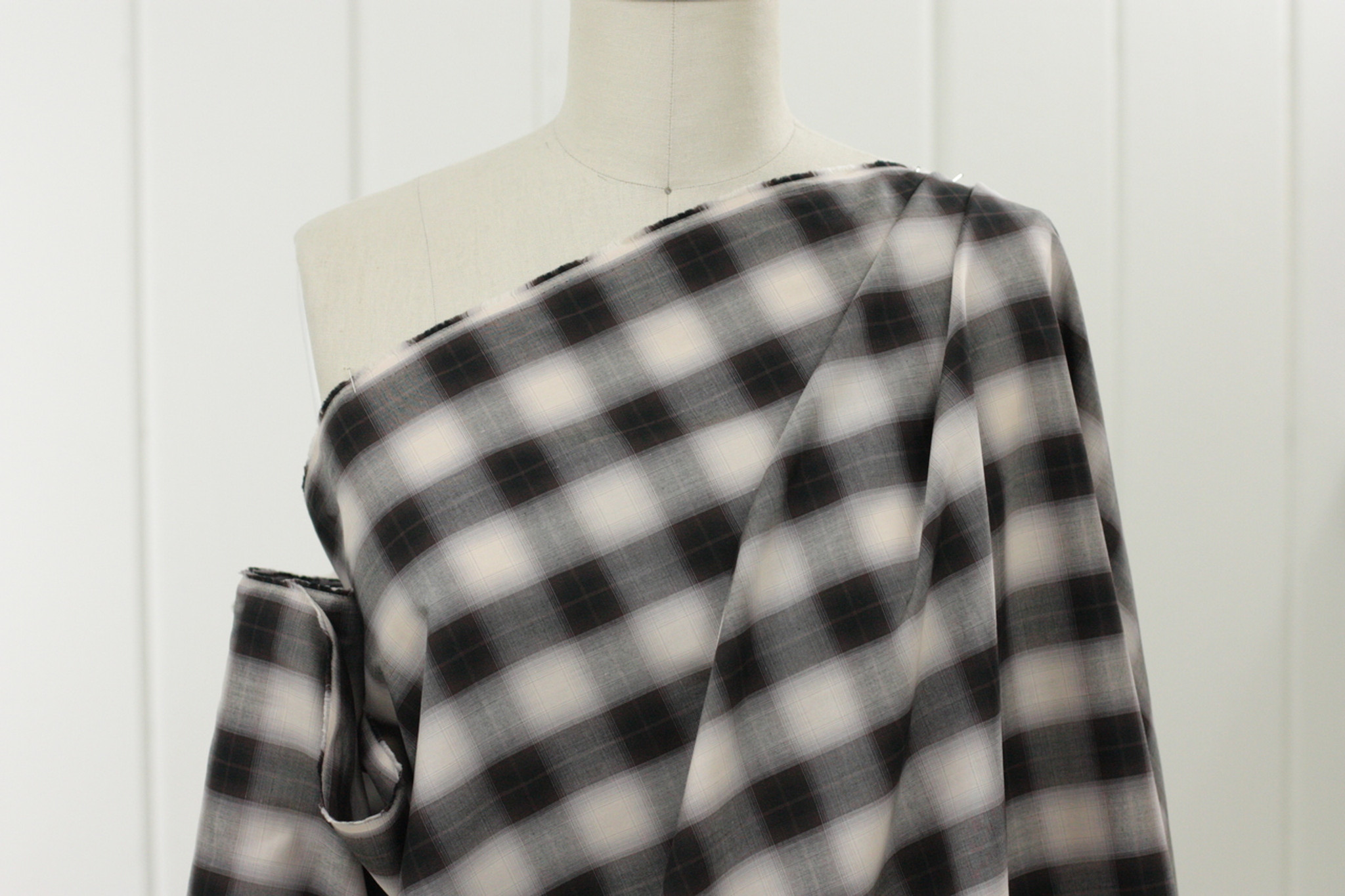 Espresso Plaid Shirting