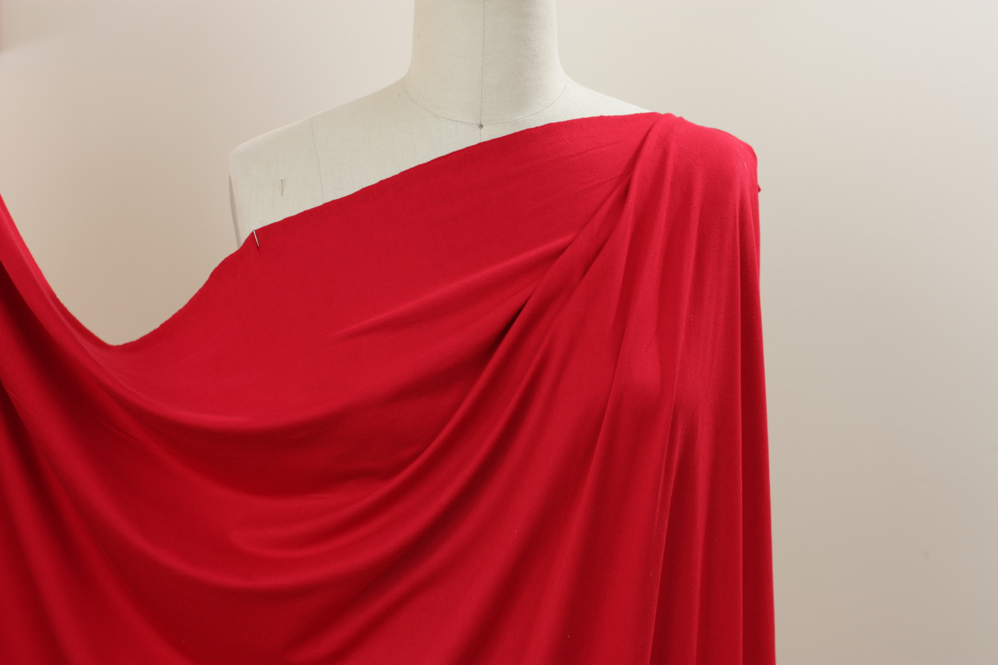 Ruby Red Jersey Knit