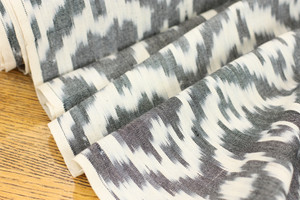 Charcoal Diamonds Ikat