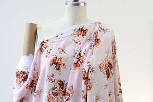 Dusty Pink floral Woven