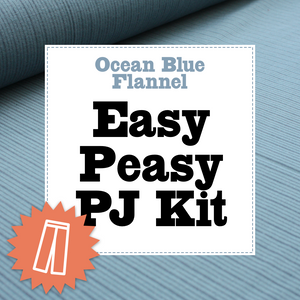 Ocean Blue Flannel Pj Kit