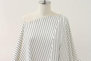 Ivory Stripe Ponte Knit