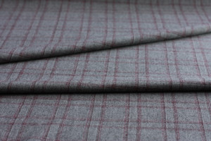 Burgundy Plaid Wool