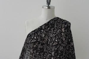 Black Botanical Silk