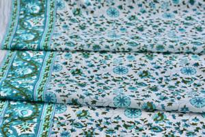 Aqua Tendrils Cotton