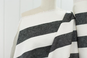 Black & White Stripe Linen