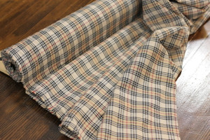 Black & Tan Plaid Shirting