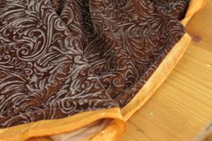 Smokey Gold Embossed Velvet