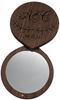 Engraved Wood Compact Mirror