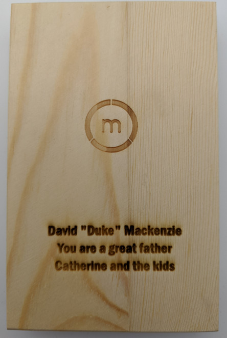 Add Engraving to Wood Gift Box