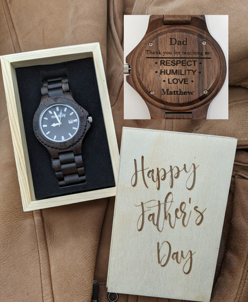 Father's Day Atan Blackwood and Silver Style 2