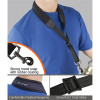 """Protec Saxophone Neoprene Neck Strap 24"""" Tall with Metal Snap Black"""