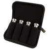 Protec Trumpet / Small Brass Mouthpiece Pouch – 4 Piece (Nylon) with Zipper Closure