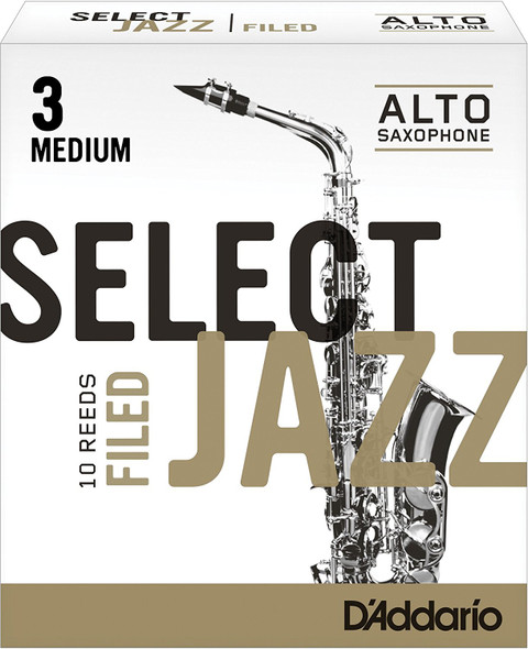 D'Addario Select Jazz Filed Alto Sax Reeds, Box of 10