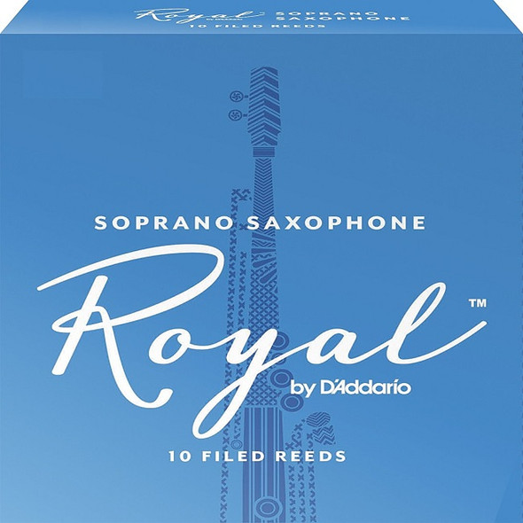 Rico Royal Soprano Sax Reeds, Pack of 10