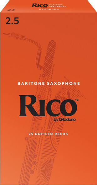 Rico Baritone Saxophone Reeds Pack of 25
