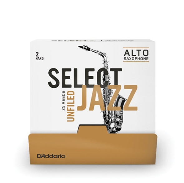 D'Addario Rico Select Jazz Alto Saxophone 25-Count Single-Sealed Reeds
