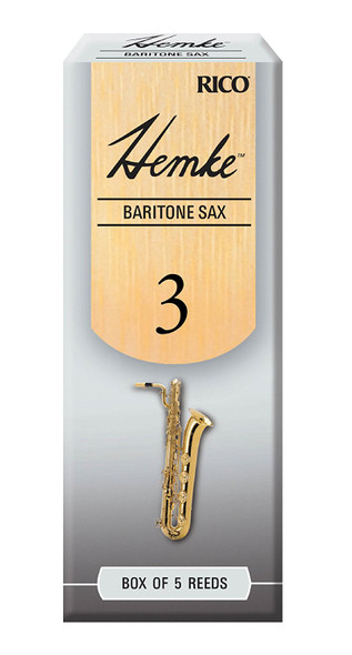 Rico Hemke Baritone Saxophone Reeds, Box of 5
