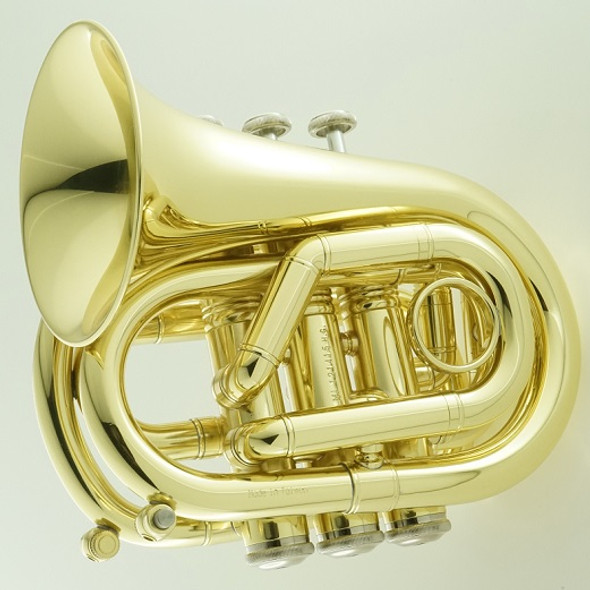Carol Brass Mini Pocket Trumpet, Lacquer